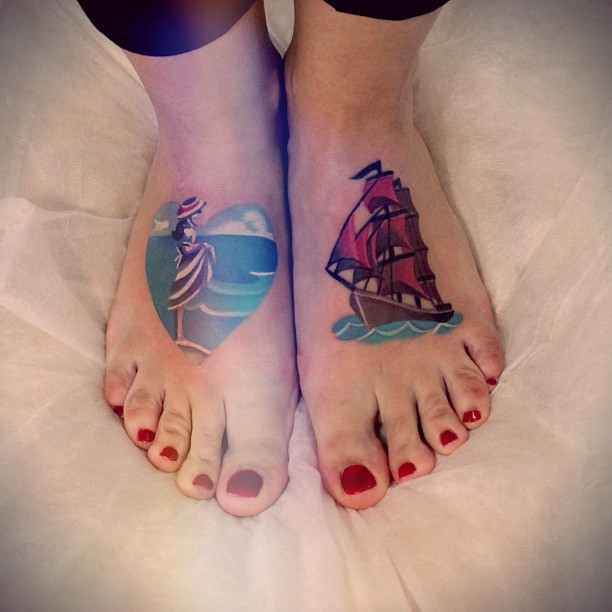 Fresh Feet Tattoos For Girls