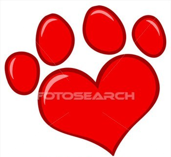 Fresh Ink Love Paw Print Tattoo Sample