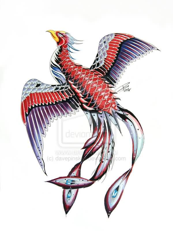 Fresh Japanese Phoenix Tattoo Version