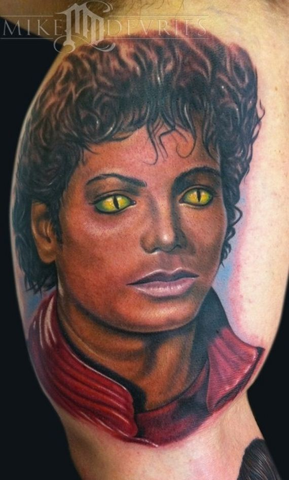 Fresh Michael Jackson Portrait - People Tattoo