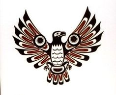 Fresh Native American Bird Tattoo Design
