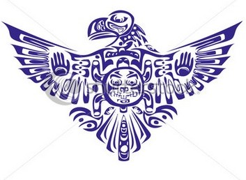 Fresh Native American Eagle Tattoo Photo