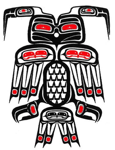 Fresh Native American Haida Tattoo Sample