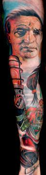 Fresh Native American Sleeve Tattoos