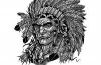 Fresh Native American Warrior Head Tattoo Sample