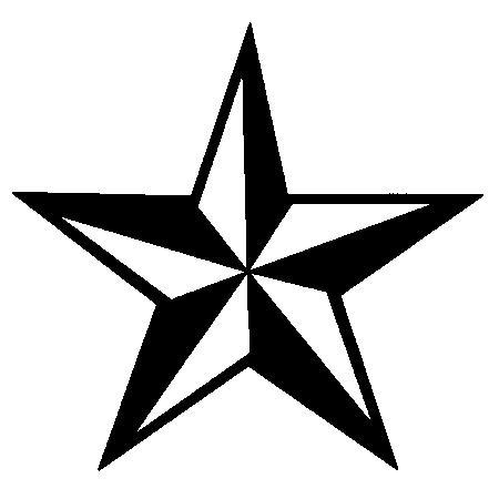 Fresh Nautical Star Tattoo Piece
