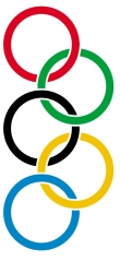 Fresh Olympic Rings Tattoo Stencil