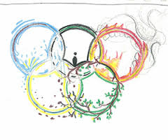 Fresh Olypmic Rings Tattoo Design