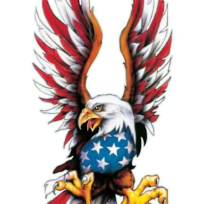 Fresh Patriotic Eagle Tattoo Sample