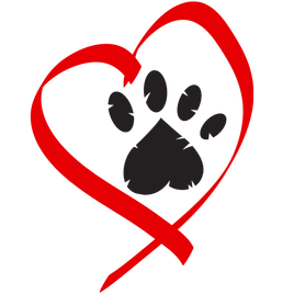 Fresh Paw Print Heart Tattoo Stencil