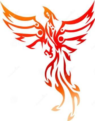 Fresh Phoenix Tribal Tattoo Design