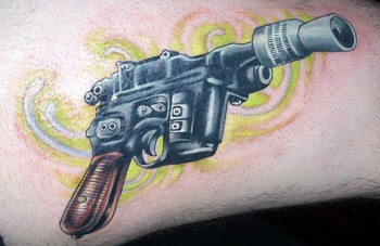 Fresh Pistol Tattoo For Everyone