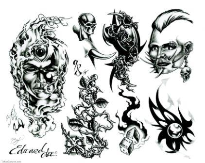 Fresh Tattoo Designs Set