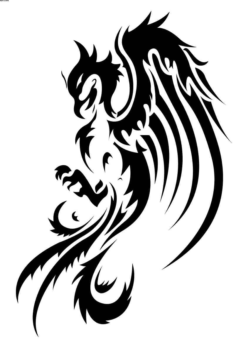 Fresh Tribal Phoenix Tattoo Design