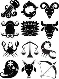 Fresh Zodiac Symbol Tattoos Set