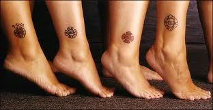 Friendship Symbol Ankle Tattoos