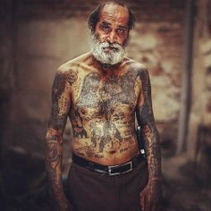 Full Body Tattooed Old People