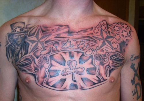 Full Chest Tattoos
