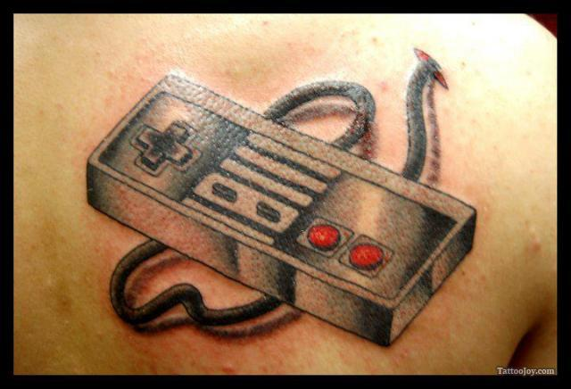 Game Controller Tattoo