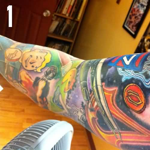 Gaming Sleeve Tattoos