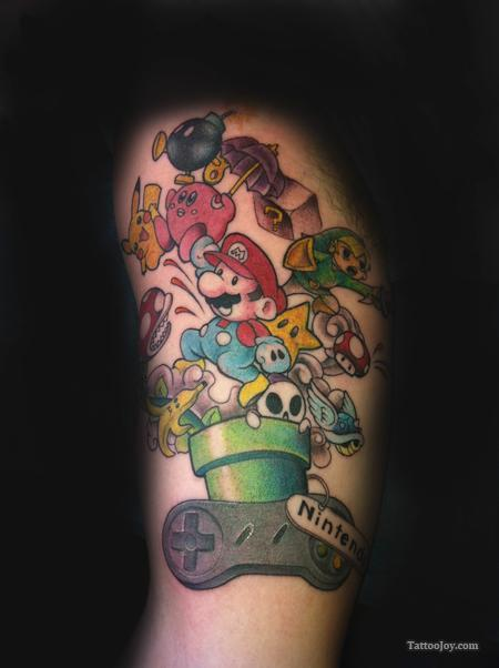 Gaming Tattoos On Arm