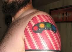 Geeky Video Game Tattoo For Shoulder