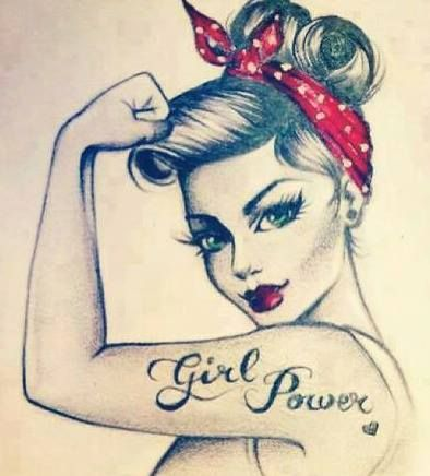 Girl Power Pin Up Girl Tattoo Design