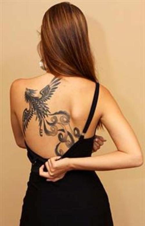 Girl Reveals Her New Phoenix Tattoo