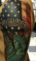 Give Liberty Or Death Patriotic Tattoos