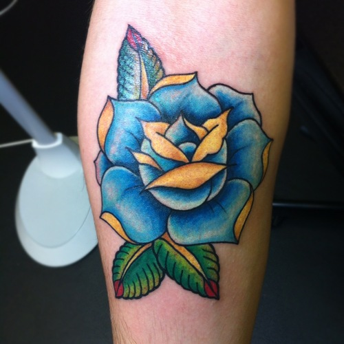 Glorious Blue Rose Tattoo For Everyone