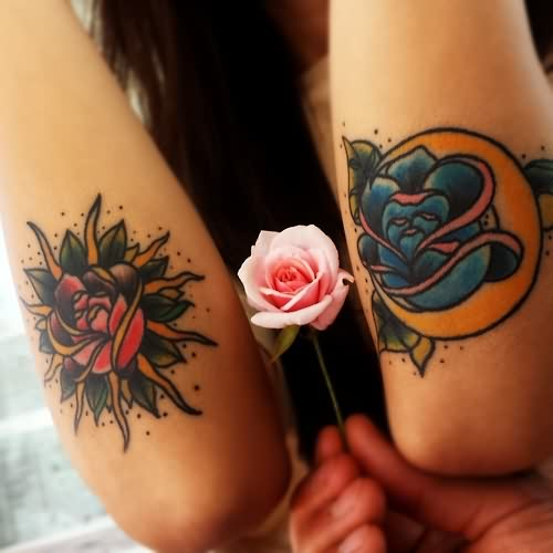 Glorious Rose Tattoos On Arm