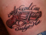 God Can Judge - Pistol Tattoo