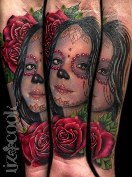 Gorgeous People Dia De Los Muertos And Roses Tattoos