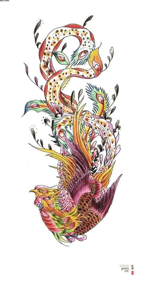 Gorgeous Phoenix Tattoo Design