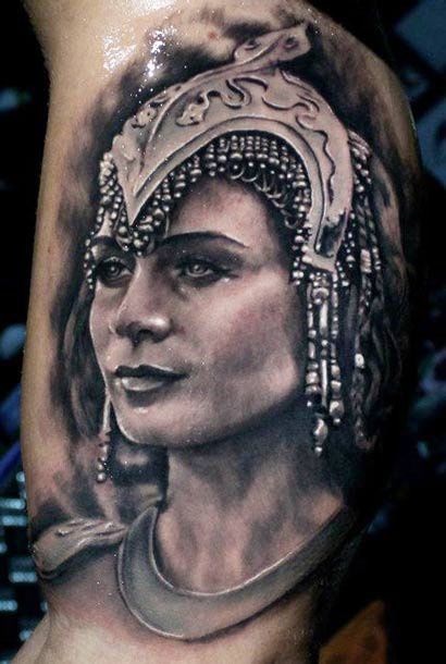 Gorgeous Sparkling People Portrait Tattoo