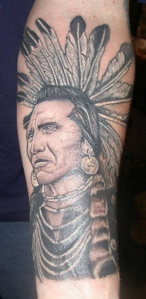 Great Native American Tattoo On Forearm
