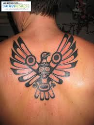 Great Native American Tattoo On The Upperback