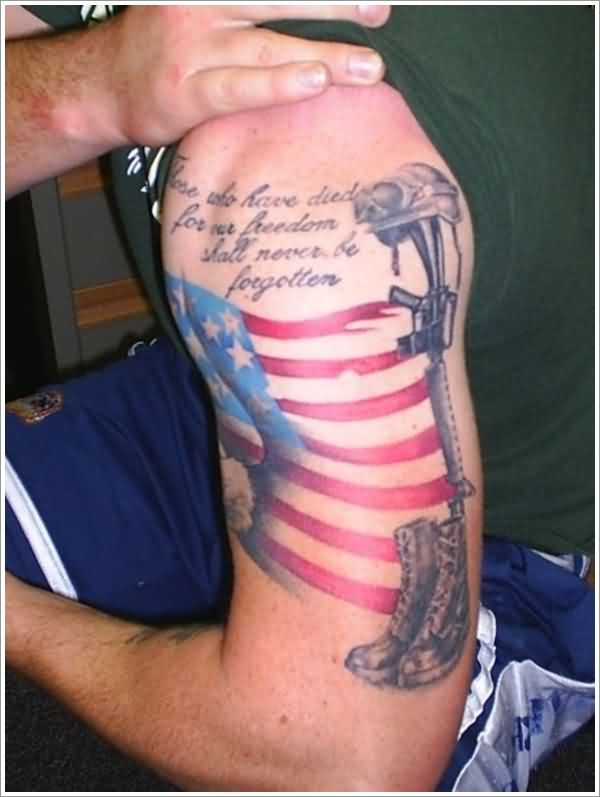 Great Patriotic And Military Tattoos For Guys
