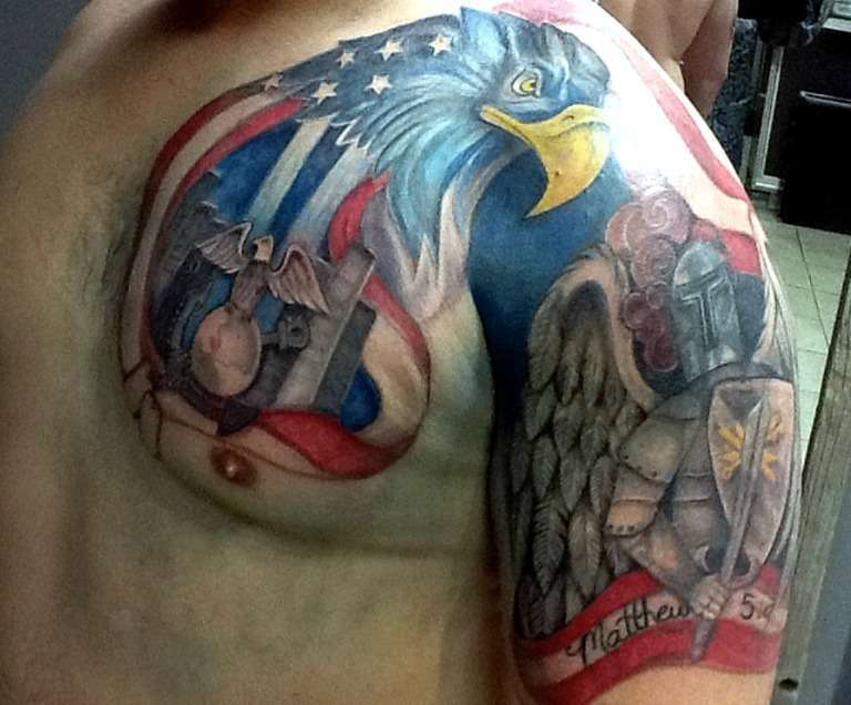 Great Patriotic Tattoos For Men