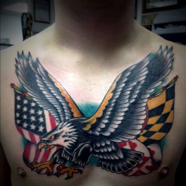 Great Patriotic Tattoos On Chest