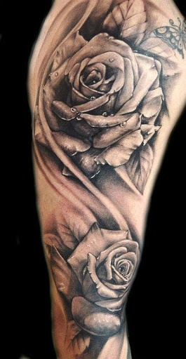 Great Realistic Rose Tattoos
