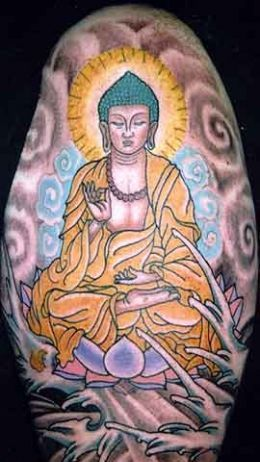 Great Religious Tattoo On Sleeve