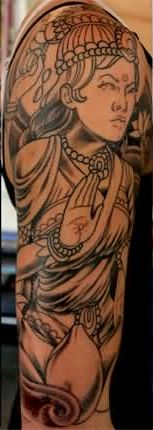 Great Religious Tattoos On Entire Arm