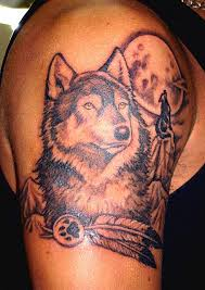 Grey Native American Tattoos On Biceps