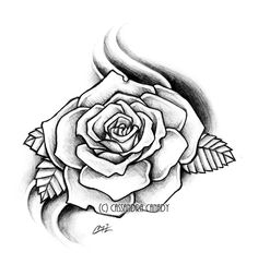Grey Rose Tattoo Sample