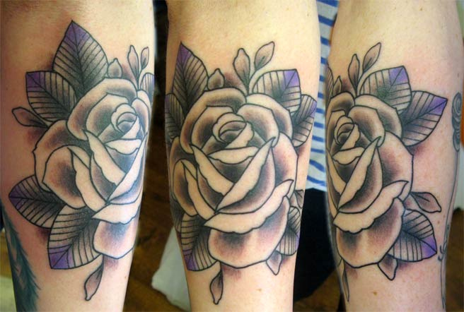 Grey Rose Tattoos