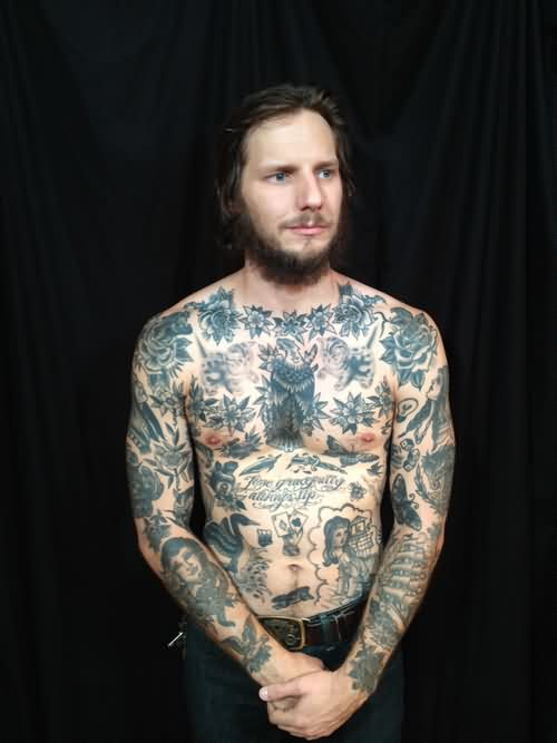 Grey Tattoos On Full Body Of People