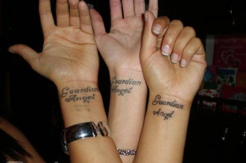 Guardian Angel Wrist Tattoos