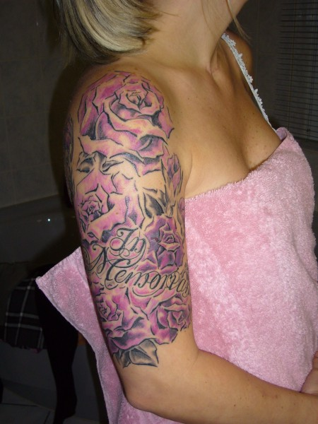 Half Sleeve Roses Tattoos Fashion For Women