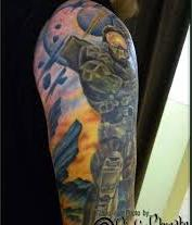 Half Sleeve Video Game Tattoos